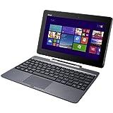Asus Transformer Book T100TA-DK002H Notebook Convertibile in Tablet, Processore Intel Atom Quad Core Z3740, Display 10 Pollici TouchScreen IPS, RAM 2 GB, SSD 32 GB, Windows 8.1, colore: Antracite