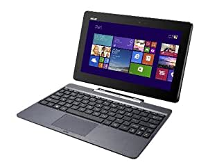 Asus Transformer Book T100TA-DK002H Notebook Convertibile in Tablet, Processore Intel Atom Quad Core Z3740, Display 10 Pollici TouchScreen IPS, RAM 2 GB, SSD 32 GB, Windows 8.1, colore: Antracite