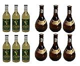 12x 500 ml beliebter Retsina aus Griechenland Malamatina & Kechribari im Set geharzter Weißwein 11,5 % Spar Set 12 Flaschen Weiß Wein + 2 Probiersachets a 10 ml Olivenöl von Kreta gratis