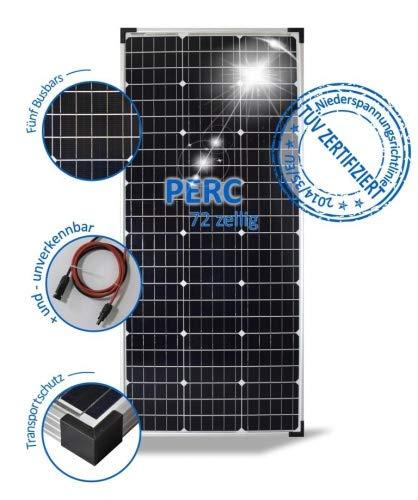 preVent GmbH Solarmodul 100W Solarpanel 24V Monokristallin 72 PERC Solarzellen 5 Busbars PV-100-M-72-S