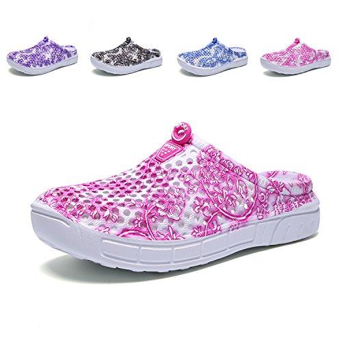 Welltree Pantoffeln Frauen Sommer Loch Sandalen, zu Fuß, Anti-Slip Beach Wasser Schuhe PinkWhite 37 EU (Wasser-schuh Damen)