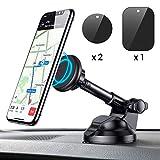Support Voiture Magnétique, Support Téléphone Voiture Universel avec bras extensible pour iPhone X/8/7/6s/6/SE/5, Samsung Galaxy S8/S7/A5/Note8, Smartphone et GPS Appareils (Noir)