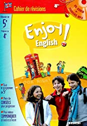 Enjoy english ! 5e : Cahier de révision (1CD audio MP3)