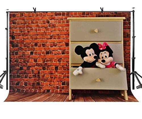 LYLYCTY LYGE990 Wandspielzeug-Hintergrund im Vintage-Stil, Mauerschrank, Mickey-Maus-Puppe, Spielzeug, Fotografie, Hintergrund, Fotohintergrund, Requisiten, Studio-Display