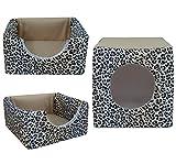 COCO Kuschelhütte 2in1 für Hunde und Katzen Maße: ca. 40 x 40 x 40 cm