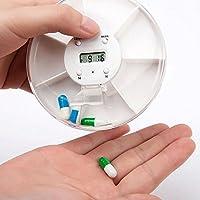 VANKER Multi-Alarm-Timer Pille Aufbewahrungsbox Rund 7Tage Tablet Medizin Reminder Halter preisvergleich bei billige-tabletten.eu