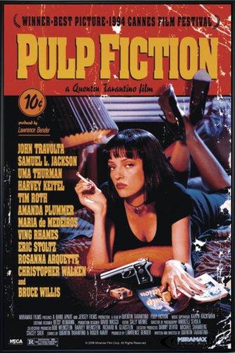 Close Up Pulp Fiction Poster (93x62 cm) gerahmt in: Rahmen schwarz