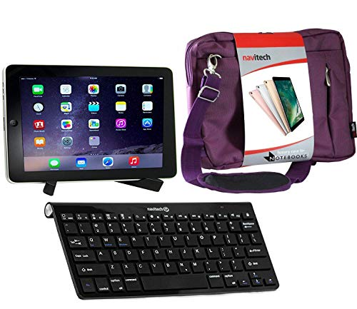 Navitech Converter Pack Including Multi OS Wireless Bluetooth Keyboard/Purple Case Bag & Portable Stand Compatible With The Arespark 10.1 Inch Tablet | Argos Bush MyTablet | ARNOVA 8 G2 | G3