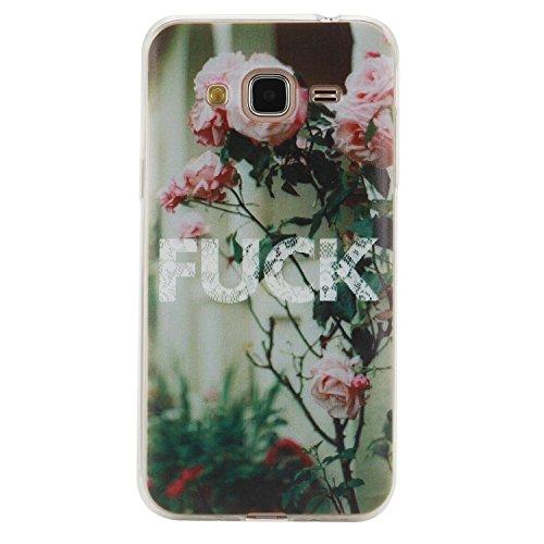 Per Samsung Galaxy J3 (2015 / 2016) (5 Pollici) Custodia ZeWoo® Custodie in TPU silicone Case Cover - HX017/FUCK