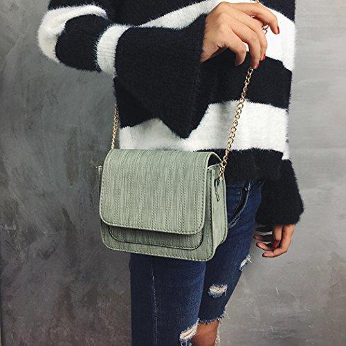 Hunpta Frauen Mode gestickte Handtaschen Schulter Beutel Geldbeutel Kurier Beutel Grün