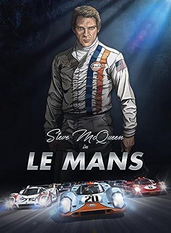 Steve McQueen in Le Mans : Bande dessinée d'art –