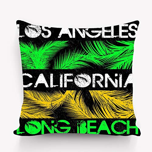 fefgrhy Kissenbezüge Throw Pillow Cushion Cover, Decorative Square Accent Pillow Case, 18 X 18 inches los Angeles californias Fashion Style (Party Los Halloween Angeles)