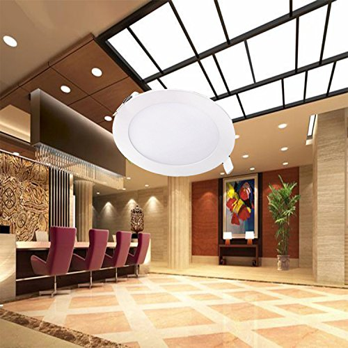Liqoo-Panel-Led-Techo-12W-Superficie-Downlight-Redondo-Ultradelgado-con-Transformador-AC-86-265V-Plafn-Luz-Empotrable-Blanco-clido-3200K-900Lm-Equivale-a-70W-para-Sala-Cocina-Pasillo-Bao-Dormitorio-No