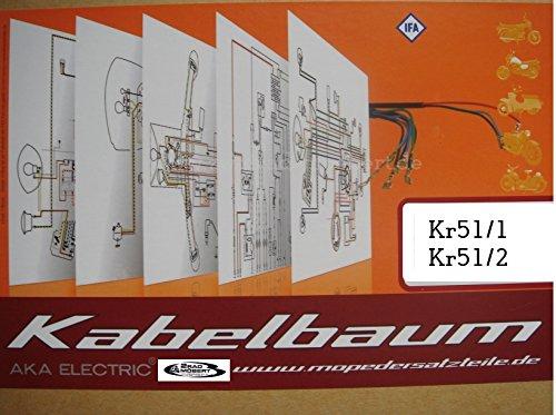 Kabelbaum farbigen Schaltplan für Simson Schwalbe KR51/2
