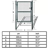 Cancello per giardino in rete metallica 85,5 x 150 cm / 100 x 200 cm