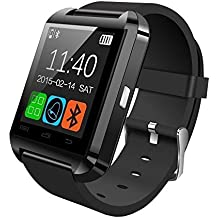UIMI Bingo U8 Watch Bluetooth Smart Wrist Watch Phone for IOS Android Samsung Iphone (Black)
