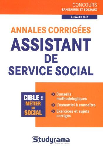 Annales corrigées assistant de service social