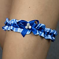 Giarrettiera di raso nozze matrimonio sposa biancheria intima regali de nozze blu