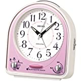 Seiko QHP003P 18 Melodies or bleep Pink & White Alarm Clock