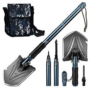 Camping Schaufel, Military Folding Survival Shovel, Verschanzungswerkzeug, tragbar für Camping, Autonotfälle, Rucksacktouren, Outdoor, Wandern, Gartenarbeiten und Grabenarbeiten