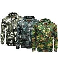 Camouflage full zip Sweat polaire à capuche 3 couleurs