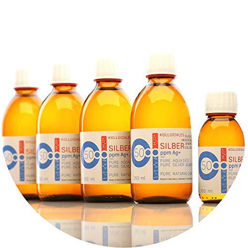 PureSilverH2O 1100ml Kolloidales Silber (4X 250ml/50ppm) + Flasche (100ml/50ppm) Reinheit & Qualität seit 2012 preisvergleich