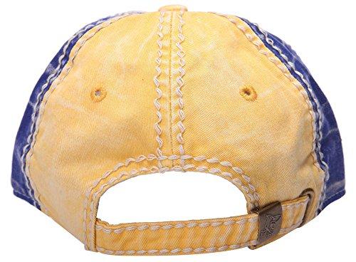 Homme Vintage Bleu requin Bouteille en métal Opener Chapeau de camionneur Snapback réglable Base-ball Casquettes Jaune