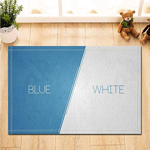 Blut-diagramm (HTSJYJYT Abstraktes Dekor-Blaue und weiße Vektor-Diagramm-Badteppiche Rutschfeste Fußmatte-Boden-Eingangs-Eingangs-Haustürmatte scherzt Bad-Bad-Matten-Bad-Matten)