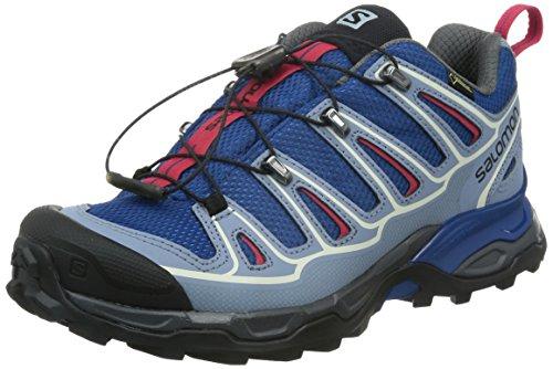 Salomon Damen X Ultra 2 GTX Trekking- & Wanderhalbschuhe, Blau (Gentiane/Stone Blue/Lotus Pink), 37 1/3 EU - X 2 Gtx Ultra