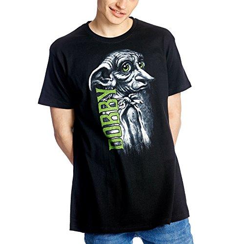 HARRY POTTER T-Shirt Dobby Elf von Elbenwald Baumwolle schwarz - XXL