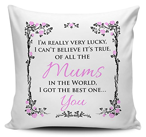 Cover Housse de coussin avec inscription «Of all the mums in the world I got the best one... you»