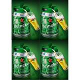 4x 5l Barril con grifo (de Heineken draught Keg 5%