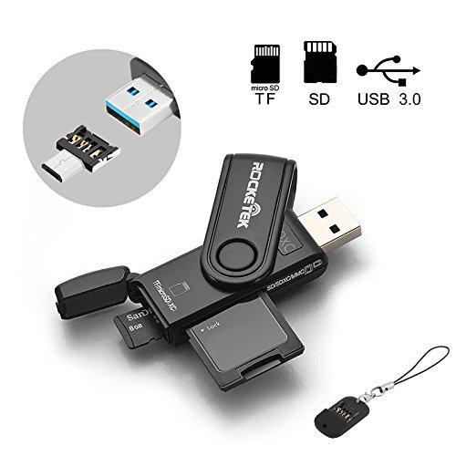 Versin-actualizada-Rocketek-Mini-USB30-Lector-de-tarjetas-de-memoria-Micro-USB-OTG-Adapter-Escriba-con-2-ranuras-para-PC-dispositivos-SmartPhone-y-Tablet-Android-Lector-de-tarjetas-USB30-OTG