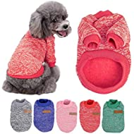 Pet Dog Sweater, Soft Warm Jumper Dog Cat Sweater Coat By Sunshine D in Autumn Early Winter Puppy Jacket Dogs Clothes RED XL
