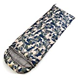 Leoie Outdoor Sport Sleeping Bag Ultralight Outdoor Adult Camouflage Color Thick Warm Bivy