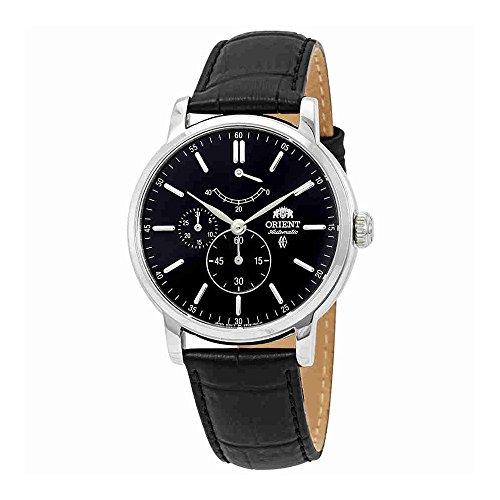 Orient Montre-bracelet pour homme Mouvement automatique Bracelet en cuir Noir Verre minéral FEZ09003B0