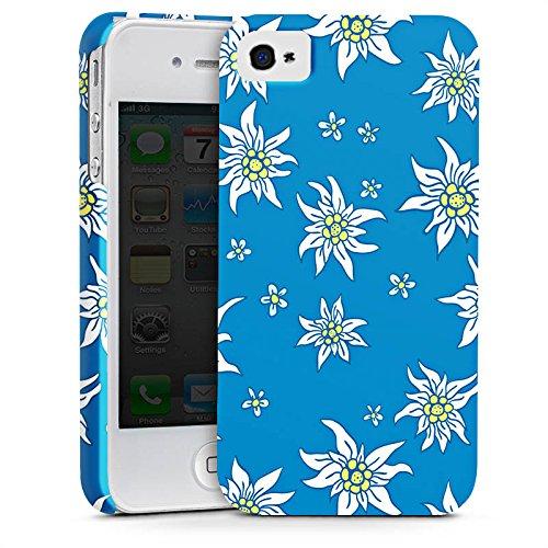 Apple iPhone X Silikon Hülle Case Schutzhülle Blumen Edelweiss Sommer Premium Case glänzend
