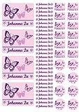 Mein Zwergenland Namensaufkleber Stickerbogen Schmetterlinge