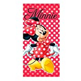 EXITY KFT TELO MARE MINNIE MOUSE ASCIUGAMANO DISNEY IN MICROCOTONE CM. 140X70 - MIN-H-TOWEL-89