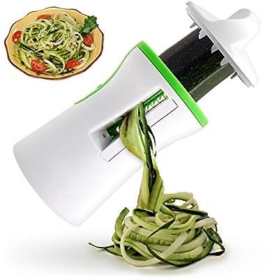 takestop® Vegetable Slicer Spaghetti Spiral Vegetarian Vegan vegghi Tempera Pasta No Carbohydrates Size Vegetables Carrot zucchini from MOON