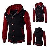 #5: Sunward Men's Mens' Winter Coat Jacket Outwear Sweater Winter Slim Hoodie Warm Hooded Sweatshirt