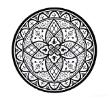 Deko Dekoteller Tablett Kunststoff schwarz/weiß Dekoration Tischdeko Platzteller Kerzenteller ca. 33cm