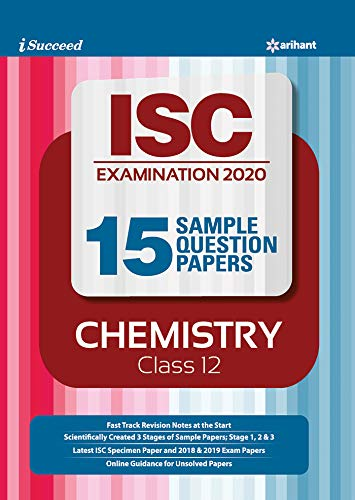 i-succeed 15 Question sample Papers ISC Chemistry class 12 2019-2020