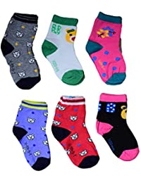PIKIPOO Isakaa Boy's and Girl's Fleece Cotton Fairy Socks (3-4 Years) - Pack of 6 Pairs