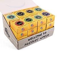 BOROK-24St-Metall-Knobelspiele-IQ-Spiele-Set-3D-Puzzle-Geduldspiele-Denkspiel-Logikspiele-Rtsel-Brainteaser-als-Adventskalender-Inhalt-fr-Kinder-und-Erwachsene