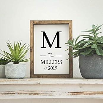"""Personalisiertes Farmhouse Schild mit eigenem Namen in 21×30 cm""""Family"""" Landhaus Deko Bild fixerupper für Küche, Flur, Schlafzimmer oder Wohnzimmer"""