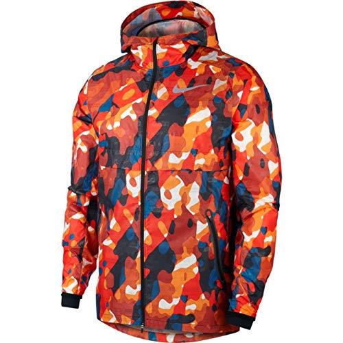 Nike Herren Shield Ghost Camo Jacke, Habanero Red/Black, XL