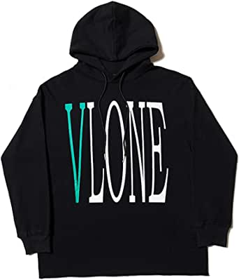 yoyosales Green Behind Big V Printing Casual Hooded Men Women Street Style Sweater Hip-Hop Hoodie Autumn Black