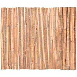 Tidyard Valla de Madera para Jardín Bar Patio Comercial y Residencial, Decoración Al Aire Libre,Bambú 100x400cm