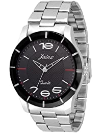 Jainx Black Dial Analog Watch For Men & Boys - JM220